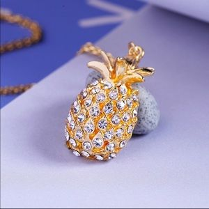 Jewelry - Yellow Pineapple Crystal Pendant Necklace
